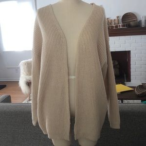 Sweaters - Dreamers knit cardigan with back lace up detail.